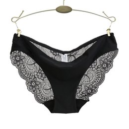 f5a3129ddc26 Ladies Underwear Woman Panties Sexy Lace Plus Size Panty Transparent Low-rise  Cotton Briefs Intimates New Hot Sale C19041702