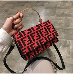 trendy purses wallets 2019 - Women F Letters PU Handbag Fashion Protable One Shoulder Bag Trendy Messenger Bag Lady Zipper Tote Wallet Purse Travel S