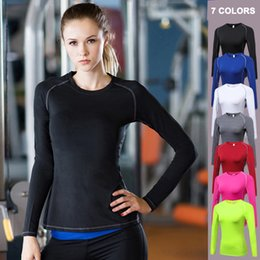 lolita blouses Canada - Women Gym Clothing Long Sleeve Yoga Tops Quick Dry Sports T Shirt Running Workout Tops Slim Yoga Blouses Shirt Fitness Jerseys T200622