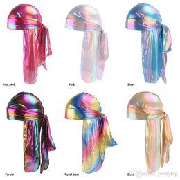 Novelty Hair Hats Wholesale Australia - Women Headband Reese Silk Long Tail Pirate Hat Baotou Hair Band Hip Hop Cloak Cap DURAG Hair Accessories