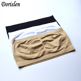 Discount packs bras - Fashion Women Bandeau Bra Sexy Strapless Boob Tube Top Seamless Single Layer Underwear Individually Packing Plus Size
