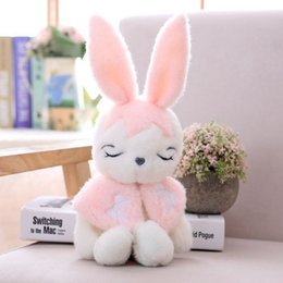 plush bunnies for wholesale NZ - Easter Bunny Plush Stuffed Animal Toy Plush Floppy Ear Lovely Creamy Bunny Rabbit Stuffed Animal Soft Cuddly Perfect for Girls Boys