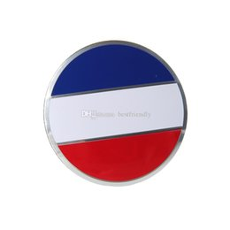 Car Alloy Emblem Logo Australia - France Flag wheel cover Sticker Wheel Center Caps car logo badges Emblem Badge Sticker 56.5mm