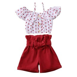 uk clothes Australia - UK Toddler Kids Baby Girls 1T-6T T-shirt Vest Tops + Shorts Outfits Summer Clothes Set