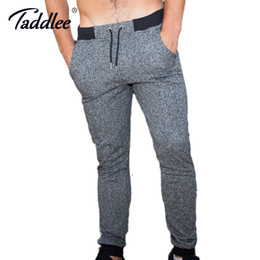 skinny trousers NZ - Taddlee Brand Legging Full Length Long Pants Sweetpants Jogger Men's Ankle Trousers Skinny Bottoms Active Cotton