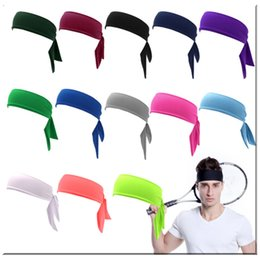$enCountryForm.capitalKeyWord Australia - Head Tie Back Headband Sports Headband Sweat Band Hair Sweatband for Men Women