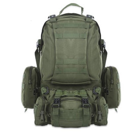 large travelling backpacks Canada - High Quality 50L Large-capacity Multifunction Military Backpack Camouflage Molle Army Backpacks Rucksack Men Travel BackpackMX190903