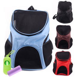 $enCountryForm.capitalKeyWord NZ - Fashin Oxford pet backpack Breathable mesh outdoor portable foldable pet carrier double shoulder carrier for small pet carrying bag by DHL