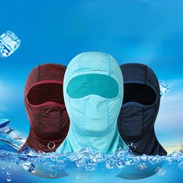 $enCountryForm.capitalKeyWord Australia - Summer Outdoor Ice Silk Sunscreen Hooded Mask Riding Multi-function Balaclava Face Mask Sun Protection Scarf