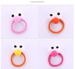 $enCountryForm.capitalKeyWord Australia - Japanese and Korean Harajuku hit color big eyes hair ring Cute head rope girl Korean soft girl hair accessories head rope rubber band