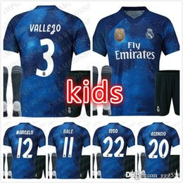 blue real madrid s soccer jersey NZ - kids kit19 20 EA Sports Real Madrid blue 2019 RAMOS ASENSIO MODRIC ISCO BALE Soccer Jerseys 2020 Camisetas Maillot Souvenir game Version