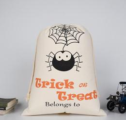 $enCountryForm.capitalKeyWord Australia - 2019 New Halloween candy bag Large Canvas bags cotton Drawstring Bag With Pumpkin, devil, spider, Hallowmas Gifts Sack Bags 36*48cm