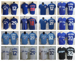 Vintage baseball jerseys online shopping - Vintage Toronto Roberto Alomar Jersey Joe Carter Jersey Roy Halladay Blue Jays Baseball Jersey Mesh BP Stitched Baseball Shirt