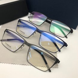 664e970e8c9 NEW handmade Pure Titanium Men Eyeglass Light Prescription Eyeglasses  Optical Eyewear Male Denmark Design Korean Man Full frames