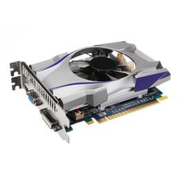 Venta al por mayor de Nueva tarjeta HIYAZONE GT730 4G DDR5 128-bit DiractX11 Tarjeta gráfica de video DirctX11 con HDMI, VGA, salida DVI-I Interfaz