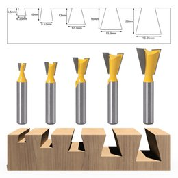 router cutters sets NZ - 1pcs 8mm Shank Dovetail Joint Router Bits Set 14 Degree Woodworking Engraving Bit Milling Cutter for Wood