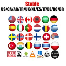 Wholesale for android iOS smart tv m3u arabic magco french UK USA Canada hot sell African Netherlands magnum European adult works MAG box PC