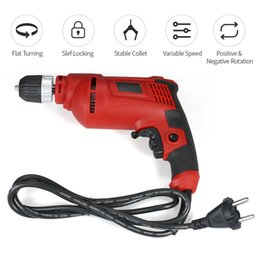 Rotary Power Drill Australia - 600W 700W Multi Purpose Corded Electric Power Drill Variable Speed Trigger Handle Rotary Hammer Impact Drill for Wood Steel