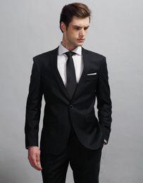 Images Dress Slim NZ - Charcoal Grey Men Wedding Tuxedos Notch Lapel Slim Fit Groom Tuxedos Best Popular Dress Men Business Dinner Darty Suit(Jacket+Pants+Tie) 460