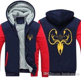 $enCountryForm.capitalKeyWord Australia - New Game Of Thrones hoodie House Of Targaryen Autumn Winter Zipper Fleece Hoodies Men Hoody Hip Hop Coat USA EU size Plus size