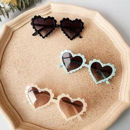 eyewear pattern Australia - New Toddler Boy Girl Solid Love Pattern Sunglasses Sun Glasses Kid Eyeglasses Beach Eyewear