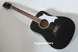 "$enCountryForm.capitalKeyWord Canada - Musoo brand 41"" solid wood acoustic guitar in black color"