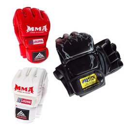 Box For Gloves Australia - Mma Muay Thai Gym Punching Bag Half Mitt Train Sparring Kick Boxing Gloves For Adult Boxing Training Fitness