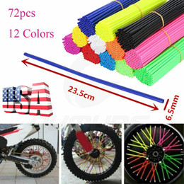 $enCountryForm.capitalKeyWord Australia - 12 Colors 72pcs Pack Wheel Spoke Wraps Skins Coat Trim Cover Pipe For Motorcycle Motocross Pit Dirt Bike Enduro Supermoto