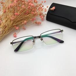 11d0e00924b 2019 Famous Men Eyeglasses Luxury France Designer Semi Rimless Reading  Glasses High Quality Titanium Sunglasses Frame with Case and Box