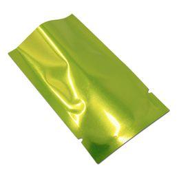 $enCountryForm.capitalKeyWord UK - multi-sizes green silver aluminum foil open top vacuum mylar package bag heat seal tea coffee storage bag snack packing food bag