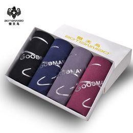 $enCountryForm.capitalKeyWord Australia - Boxer Men's Underwear Male Trunks Breathable Modal 3XL Puls Size Middle Waist Flexible Shorts Men's Bamboo Fiber Boxer