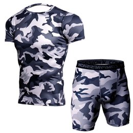 a95d1f5fe1a Sporting Apparel UK - 2019 new popular leisuretime fashion Camouflage  T-shirt Suit Men s Short