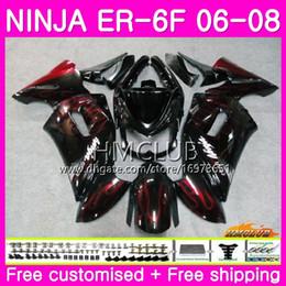 $enCountryForm.capitalKeyWord Canada - Body For KAWASAKI NINJA 650R ER6 F 650 R ER6F 06 07 08 Kit 47HM.0 Ninja650R ER-6F 06 08 ER 6 F ER 6F 2006 2007 2008 Fairing Red flames black