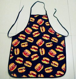 Wholesale Burger Funny Restaurant Dressed In The Kitchen Burger Shop Employee Protective Clothing Gown Activity Apron