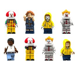Model Figure Cartoon Girl Australia - 8pcs set Cartoon Horror Boys Girls Building Blocks Bricks Figures Models Toys Children Educational Gift Toys