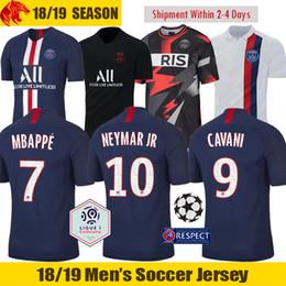 Vente en gros 19 20 PSG Maillots de football NEYMAR JR 2019 2020 Paris Saint Germain Jordanie Troisième maillot de foot MBAPPE Maillot de foot CAVANI VERRATTI DI MARIA Paris Maillot de foot