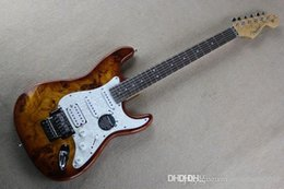 Wholesale Wholesale custom body Stratocaster Chrome Tremolo Floyd Rose Electric Guitar