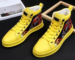 Men's Casual Shoes Men's Shoes New Spring Men Street Graffiti Printing Comfortable Casual Flats Shoes Male Dress Prom Hip-hop Skateboard Shoes Zapatos Hombre