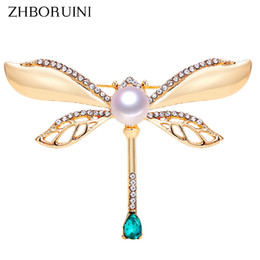 Brooch Hair Australia - Hair Jewelry ZHBORUINI 2019 Natural Brooch Retro Dragonfly Pearl Breastpin Freshwater Pearl Jewelry For Women Birthday Gift Accessories