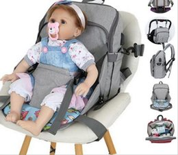 strollers wholesale Canada - 5pcs Fixed chair fashion mummy maternity baby nappy bag backpack usb waterproof nurse diaper bags baby stroller organizer
