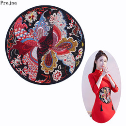 pattern decor NZ - Prajna Two Butterfly Lovers Embroidery Iron On Patches For Clothes Chinese Style Pattern Patch DIY Stripes Sticker Jackets Decor