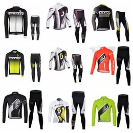 Wholesale Factory direct sales SCOTT team mens Cycling long Sleeves jersey pants sets Mountain bike Comfortable Cycling clothing Q62457