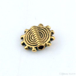 $enCountryForm.capitalKeyWord Canada - Hot Sale ! 250pcs Antique Gold Zinc alloy Gear Wheel Spacer Beads 8x10mm DIY Accessories Fit beaded bracelet