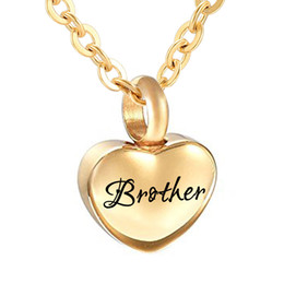 small pendants NZ - Simple Small gold Heart Cremation Urn Pendant for Ashes Memorial Keepsake Necklace 316L Stainless Steel Custom Name