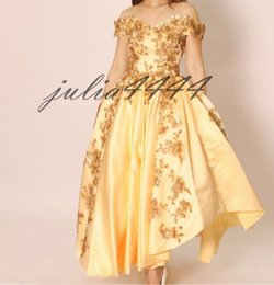 $enCountryForm.capitalKeyWord Australia - Yellow Prom Dresses 2019 New Sexy Backless New Short Asymmetrical Formal Dress Evening Wear Puffy Tulle Women Cocktail Party Gowns
