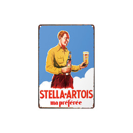 antique cameras Canada - classic vintage STELLA ARTOIS Vintage Iron CASTROL Life is a jaurney like a camera tin sign Coffee Shop Bar decoration Bar Metal Paintings