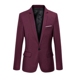$enCountryForm.capitalKeyWord NZ - 2019 Brand Clothing Blazer Men One Button Men Blazer Slim Fit Costume Homme Suit Jacket Masculine M-3XL Tuxedo Dress