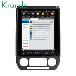 "Ford Touch Screen Stereo Australia - Krando Android 7.1 12.1"" Tesla Vertical touch screen car DVD player GPS for FORD F150 2015-2018 radio navigation system multimedia"