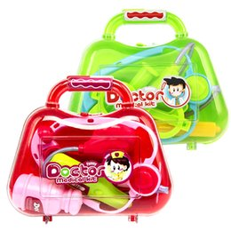 Tool Toys Pretend Play Cheap Sale Simulating Tool Shoulder Bag Set For Children Suitcase Intelligence Toys