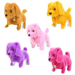 Electric Riding Toys UK - Wholesale electric forward retrogression dog glasses will walk will call children toy dog plush dolls